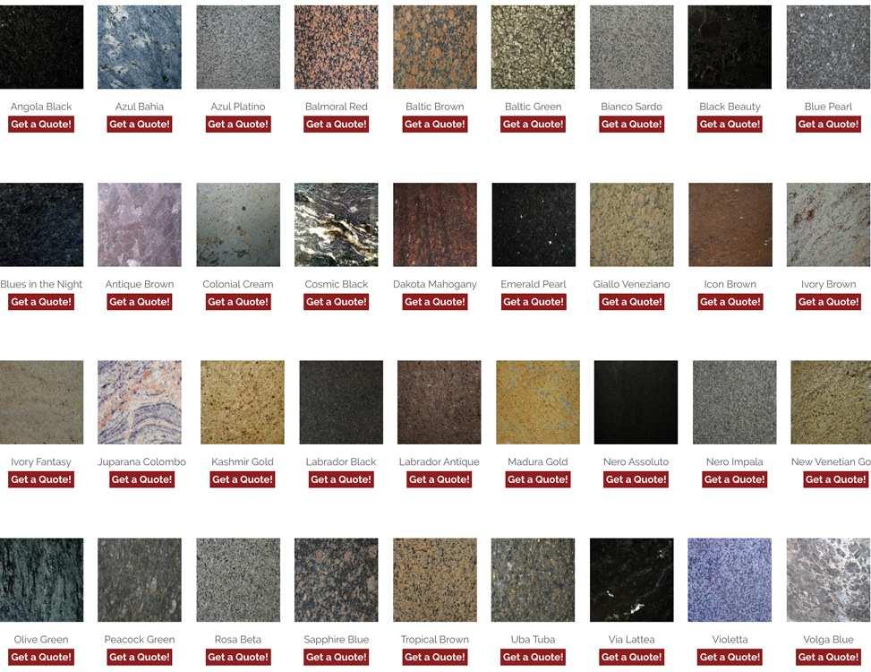 Granite Worktop Colours